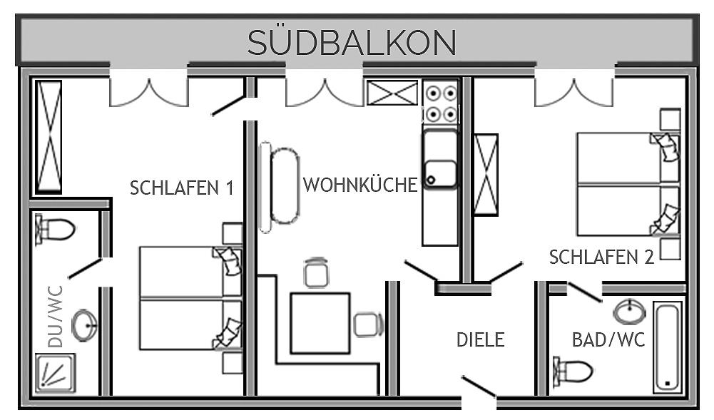Grundriss Ferienwohnung Neunerhof